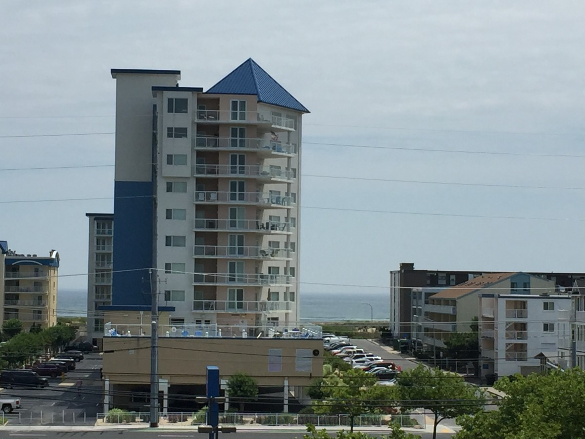 Apartment complexes come in all sizes, like this beach spot in Maryland.