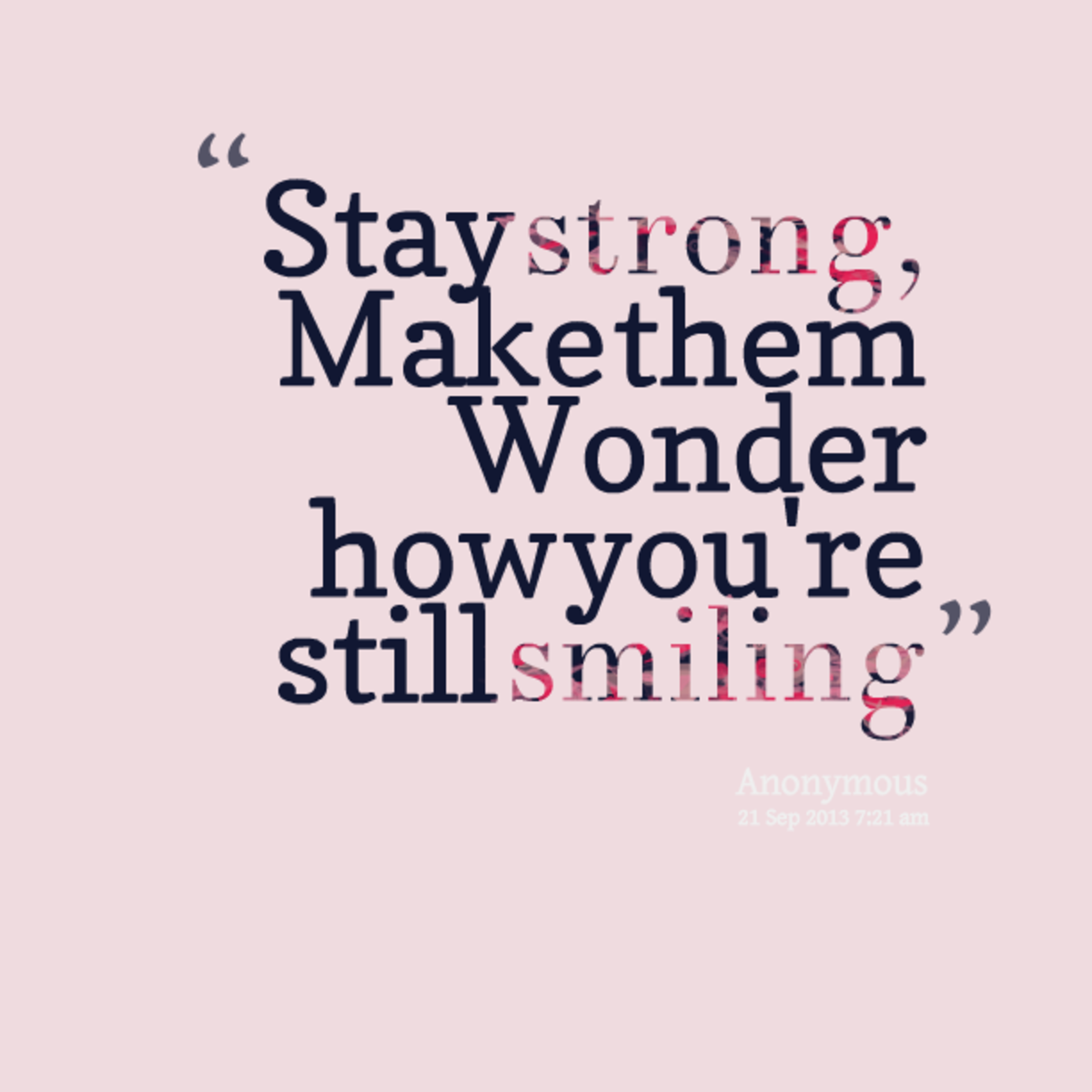 Still Strong!