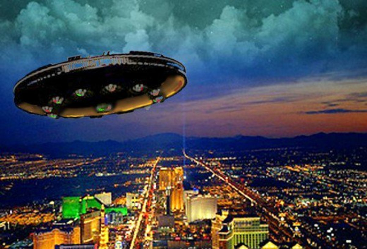 One of the most amazing UFO sightings ever was not too far from Las Vegas.