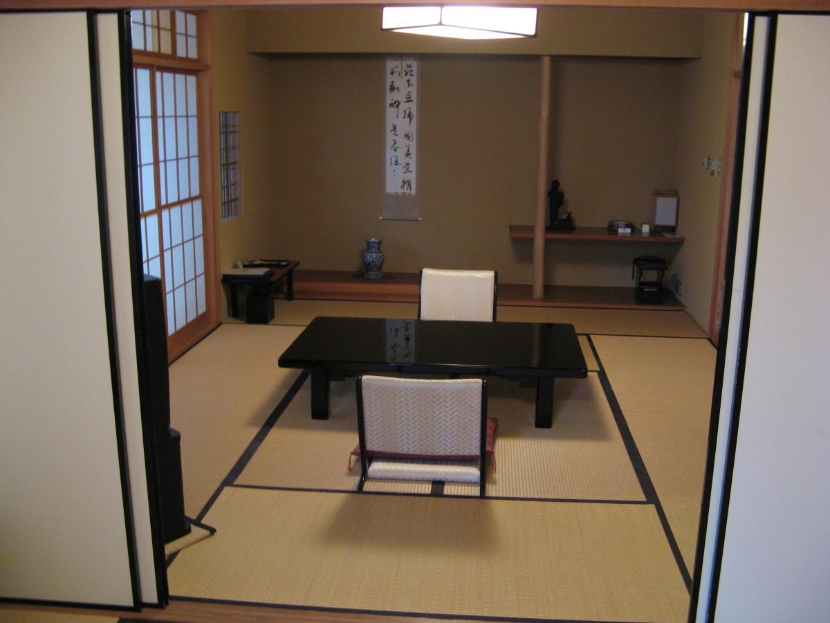 Inside a standard Japanese ryokan