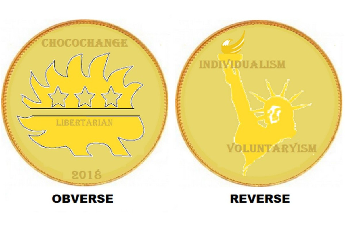 The ultimate libertarian money is finally here and it's easily available to all: Libertarian foil-wrapped ChocoChange!