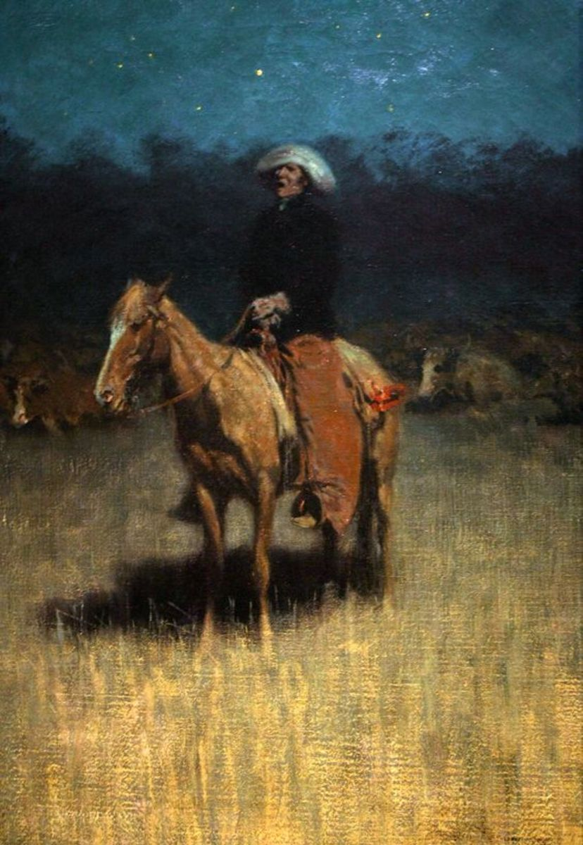 Cowpuncher's Lullaby by Frederick Remington