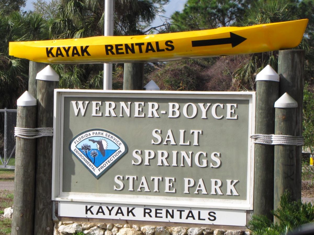Florida Kayaking:  Werner Boyce Salt Springs State Park