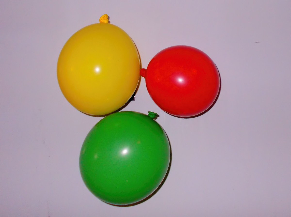 Simple latex balloons are used in this lesson