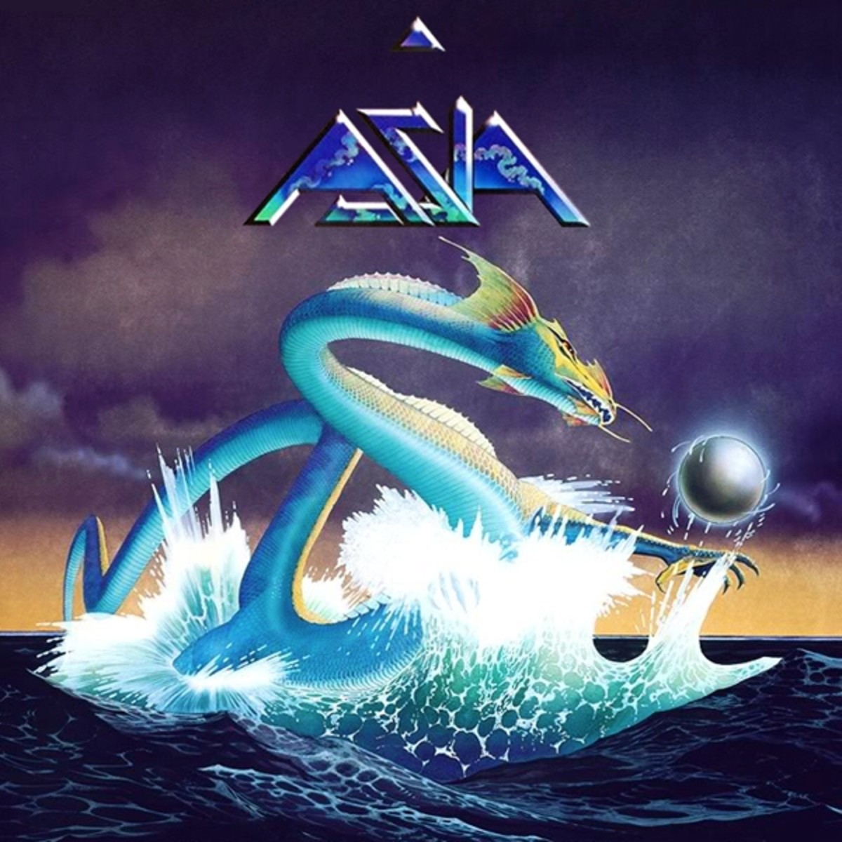Asia's debut album, 1982. Art by Roger Dean.