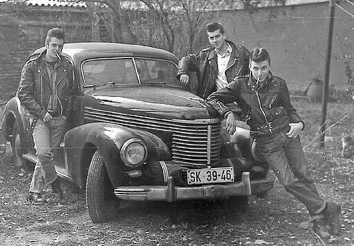 "These are ""Greasers."" ""Wendall,"" was not a part of these guys, but he knew his '57 Chevy like a book."
