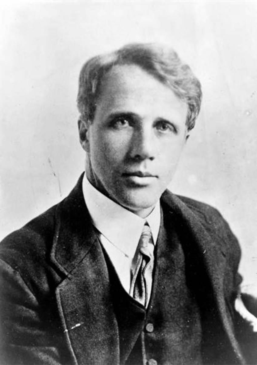 Portrait of Robert Frost.