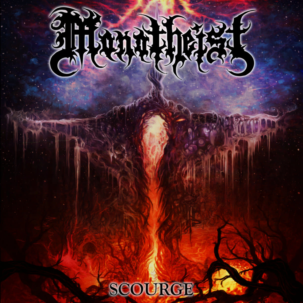 Scourge, he new full length from Florida death metallers, Monotheist