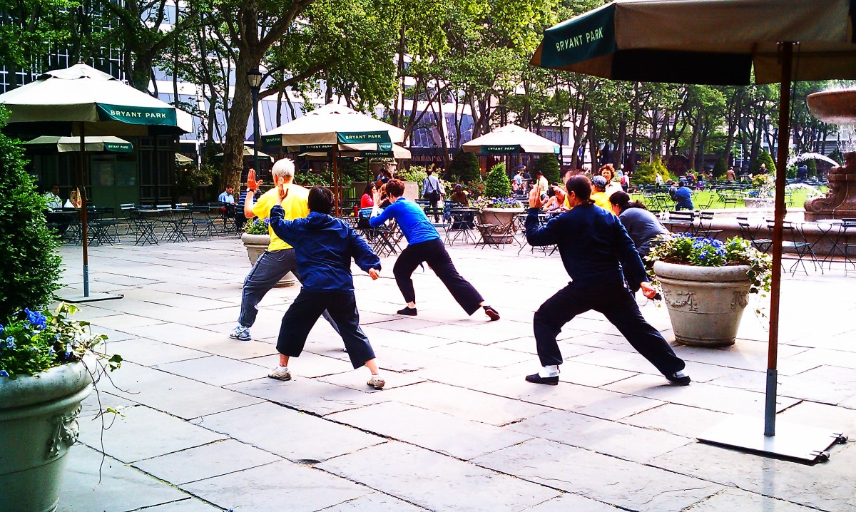 Dance or any of Bryant Park's other activities like morning Tai Chi are great free things to do in NYC while on summer vacation