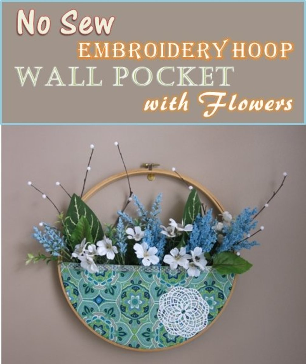 How to Make a Wall Pocket Wreath Using an Embroidery Hoop