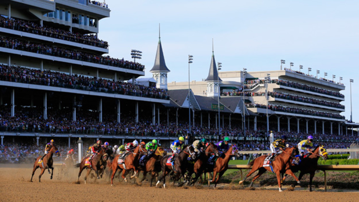 A modern day race at Churchill Downs