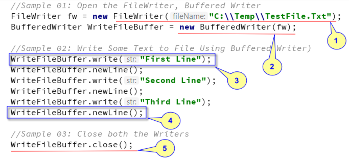 BufferedWriter - Java Example Code Snippet