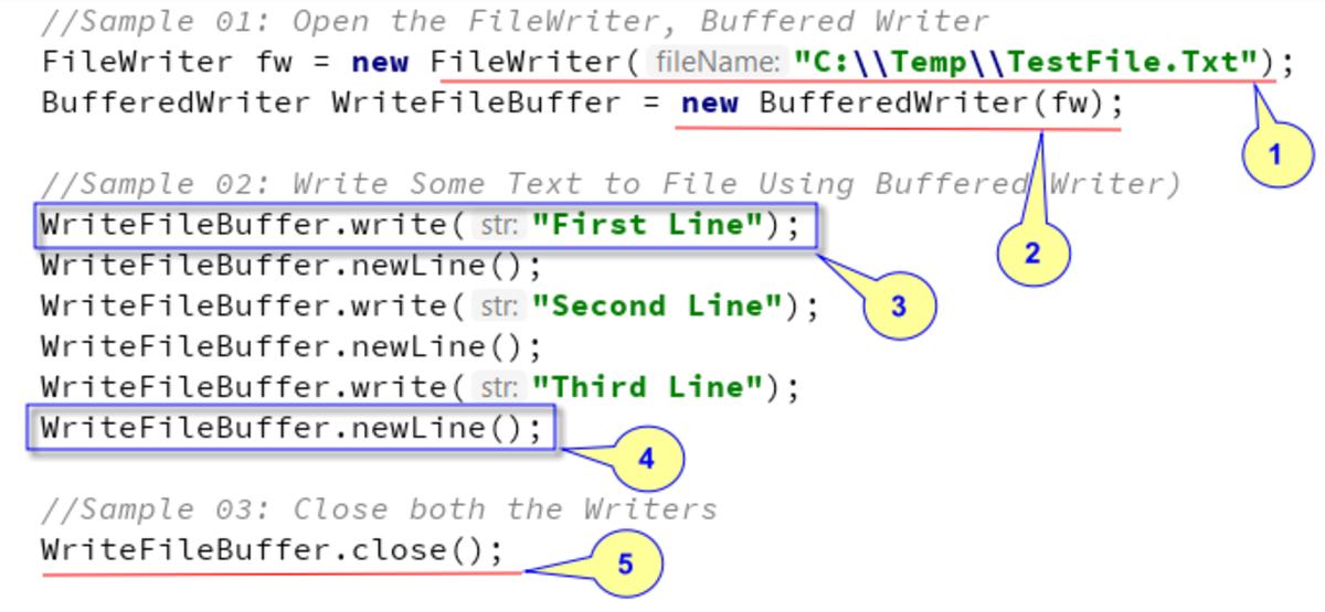 Java Examples- BufferedReader and BufferedWriter | Owlcation