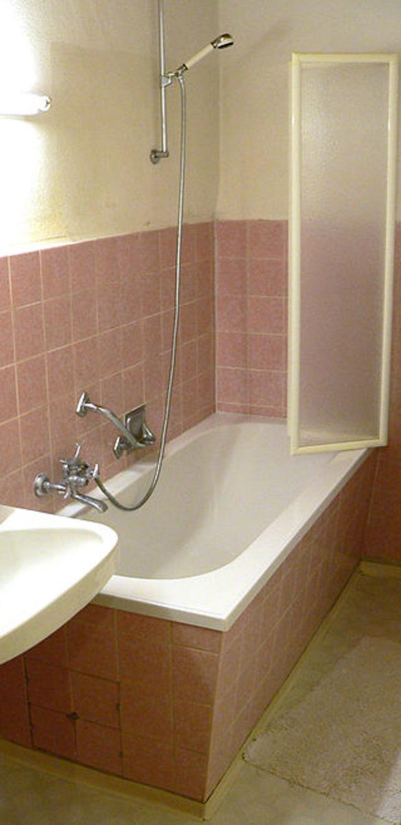 Conventional shower enclosure.