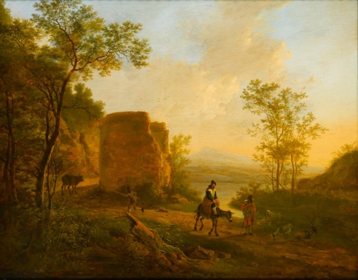 Een zuiders landschap met een ruïne (A Southern Landscape with a Ruin) - Jan Both