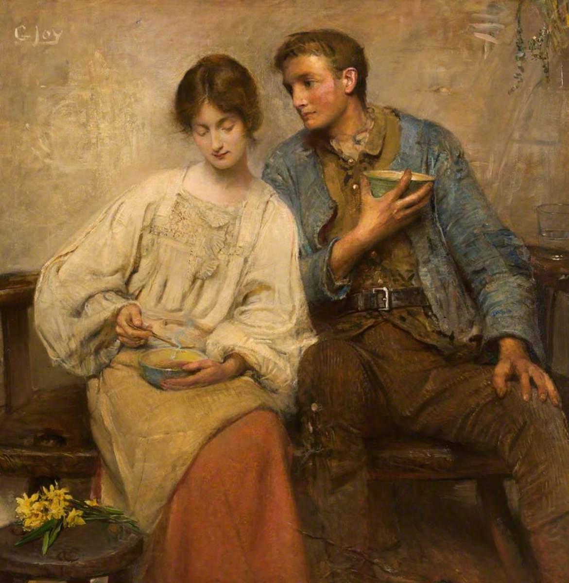A Dinner of Herbs (Irish painter George William Joy 1844-1925)