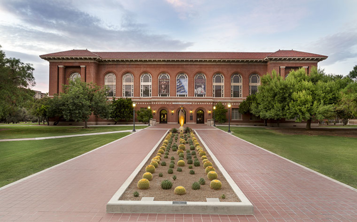 Arizona State Museum's north building on the University of Arizona campus. Photo by Jeff Smith.