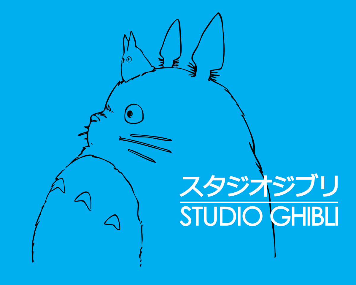"Studio Ghibli's iconic logo, featuring Totoro from ""My Neighbor Totoro."""