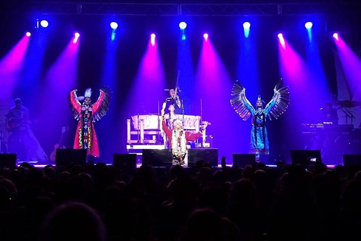 The Lakota Sioux rock band, Brule, has discovered more colorful stage theatrics and larger audiences.