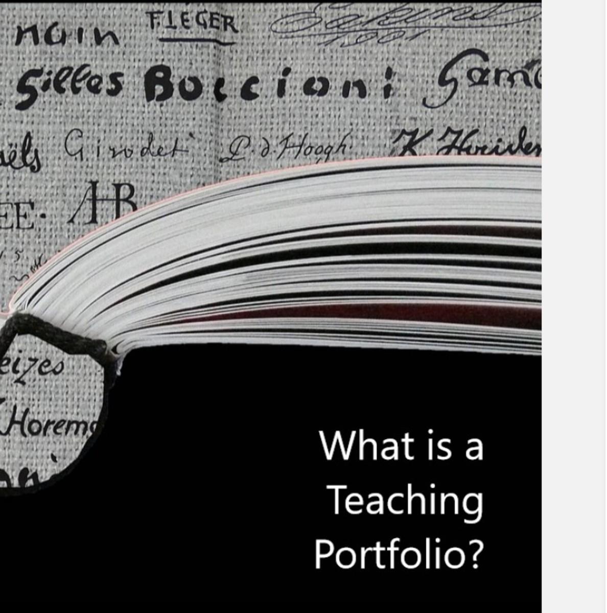 What Is a Teaching Portfolio?