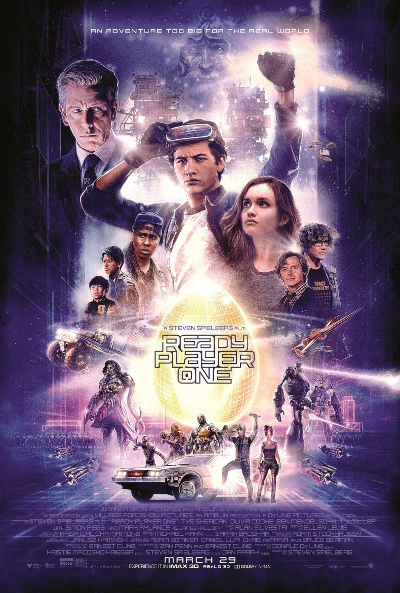 "The official one-sheet theatrical poster for Steven Spielberg's, ""Ready Player One."""