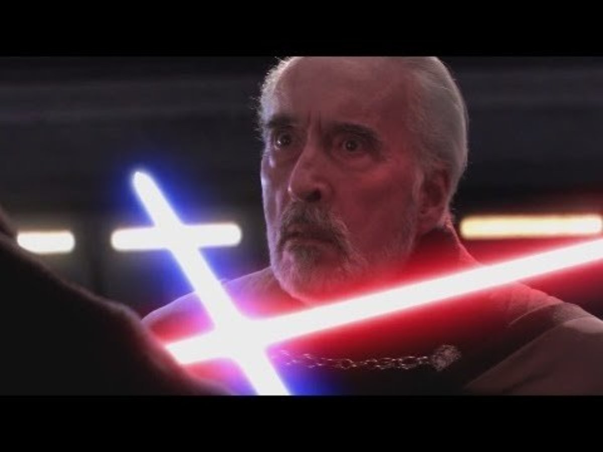 Count Dooku about to be executed by Anakin