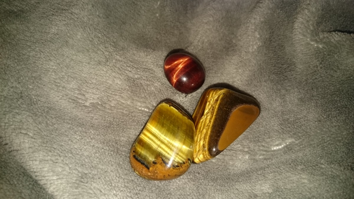 Beautiful tiger's eye crystals