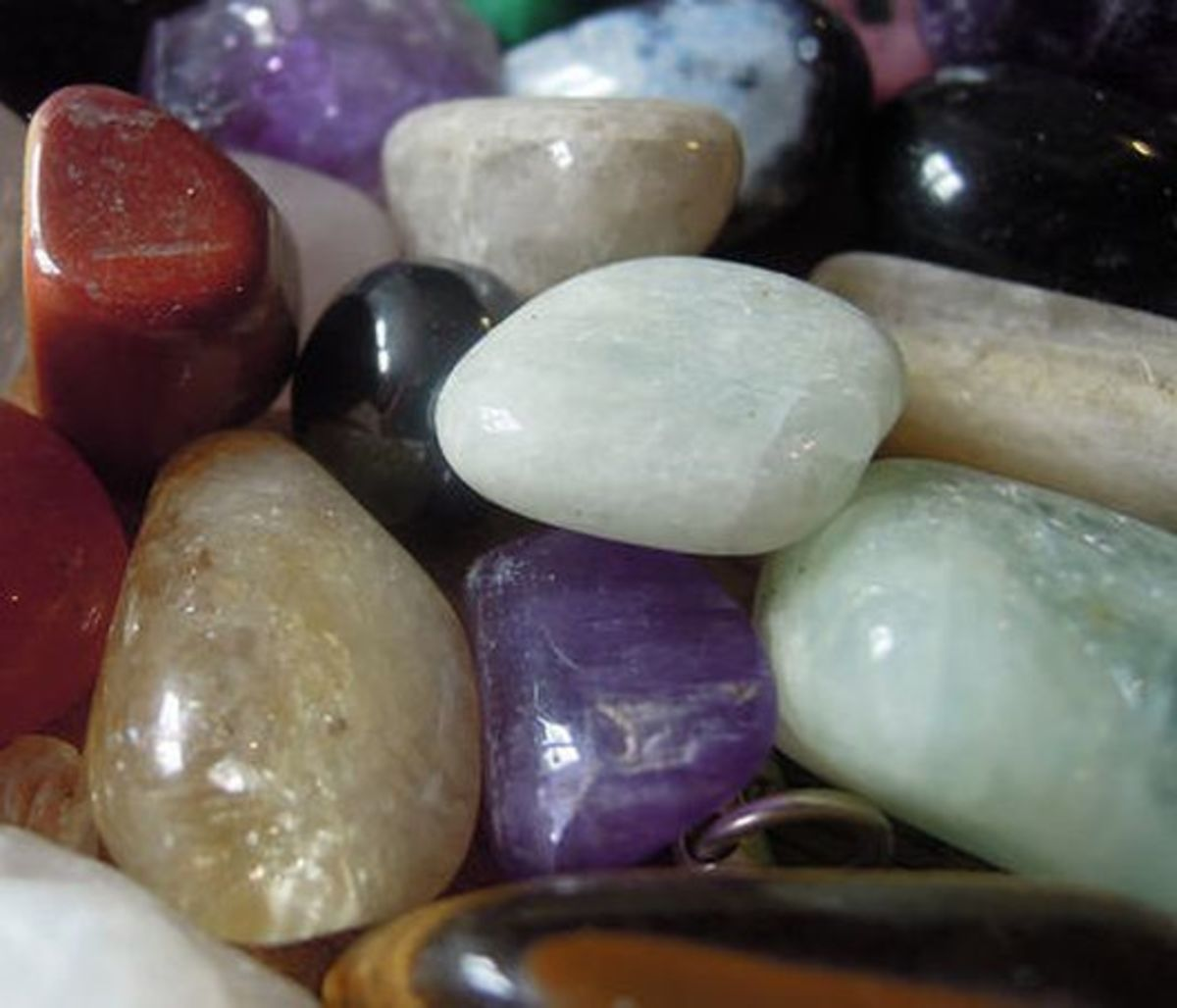 A selection of semi-precious stones