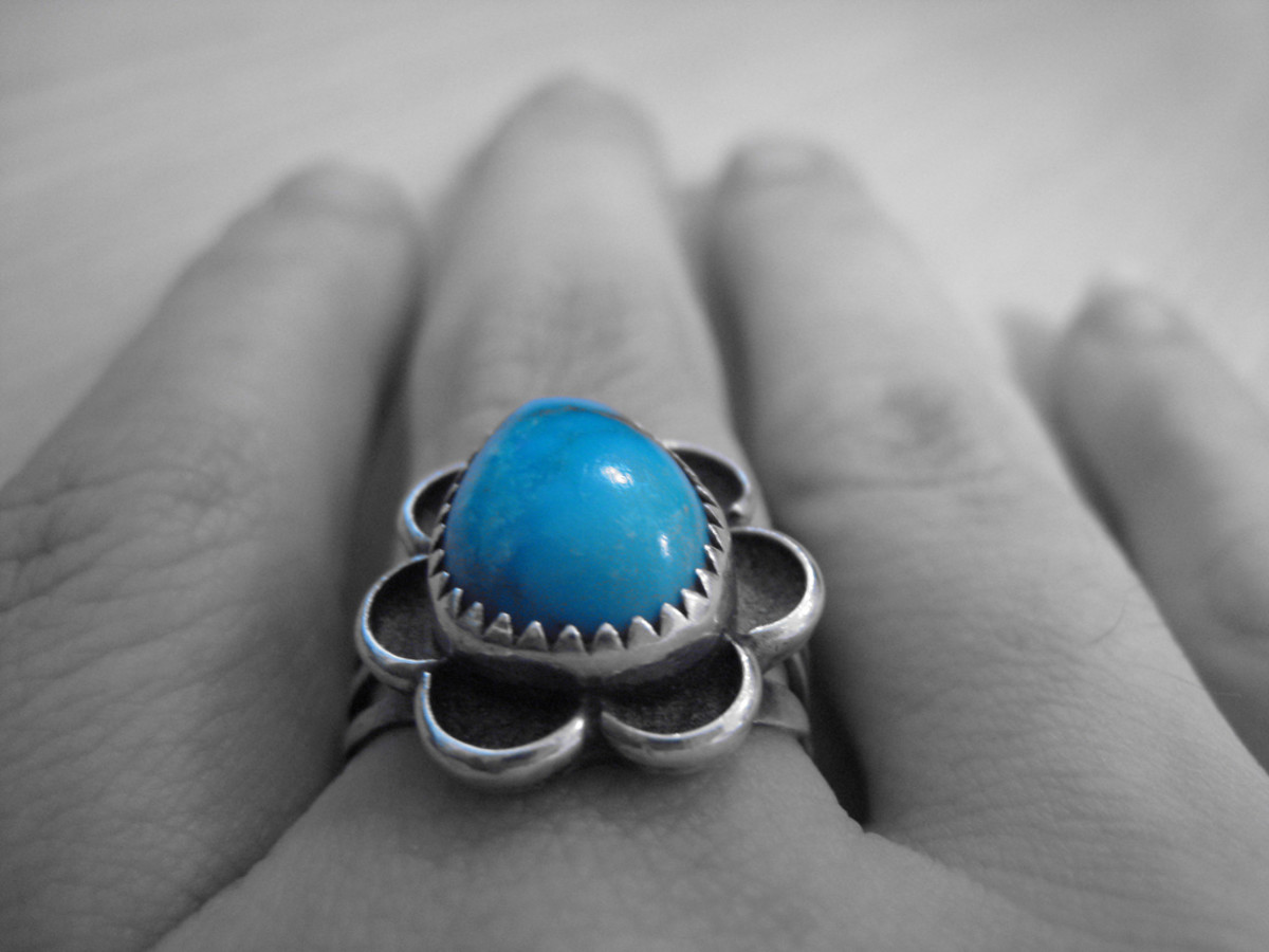 Turquoise is often found used in jewellery