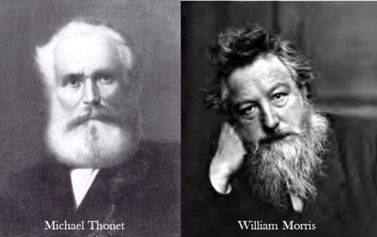 Famous 19th Century Furniture and Textile Designers: Michael Thonet and William Morris