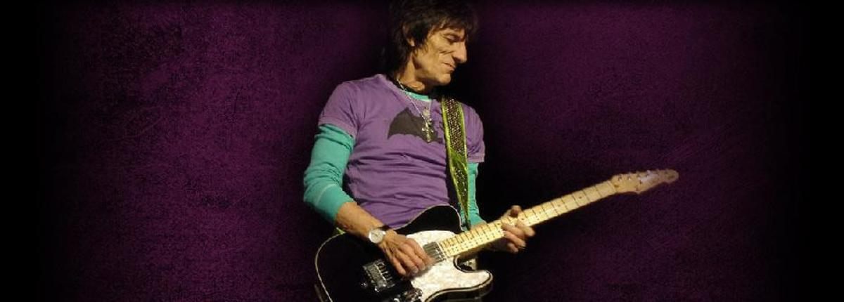 Ron Wood with his ESP Signature Telecaster