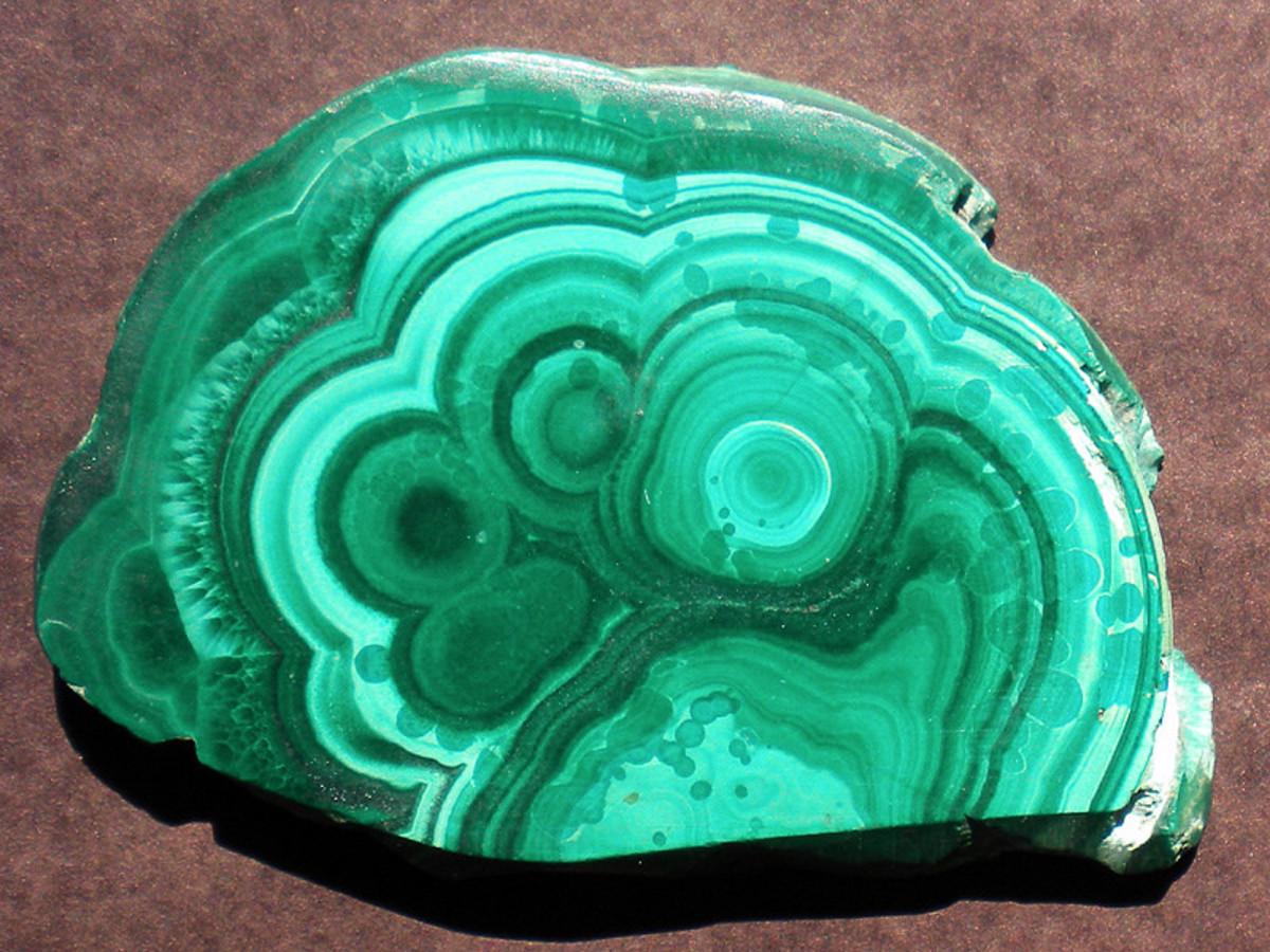 A beautiful example of malachite banding.