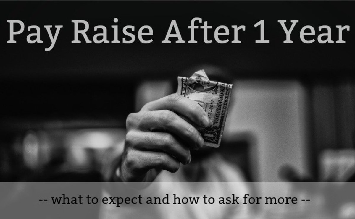 How much of a pay increase should you expect after 1 year?