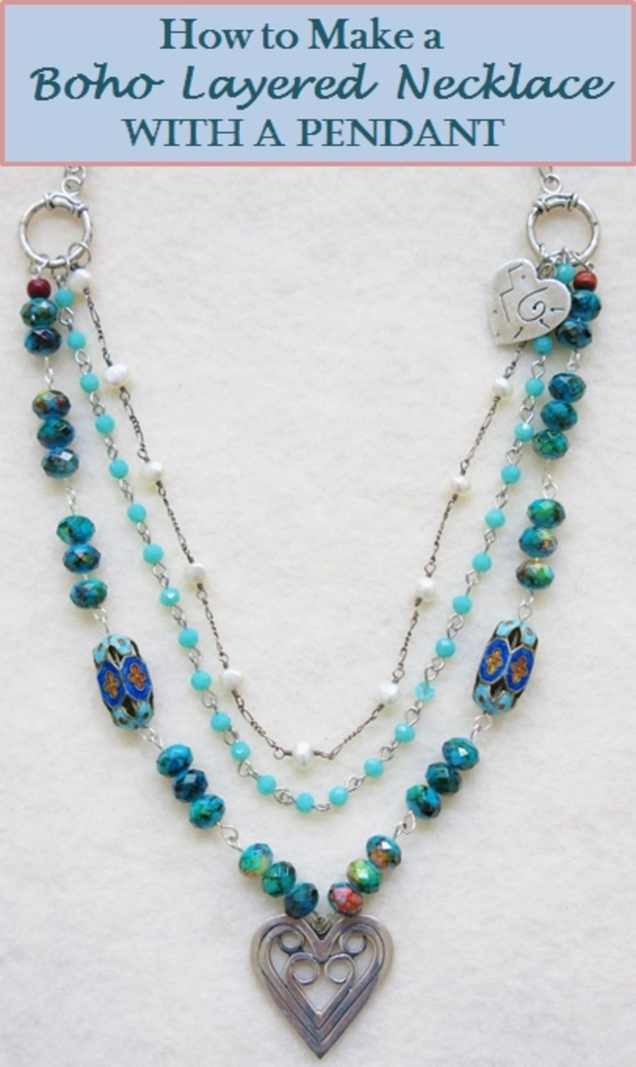 How to Make a Boho Layered Necklace With Pendant