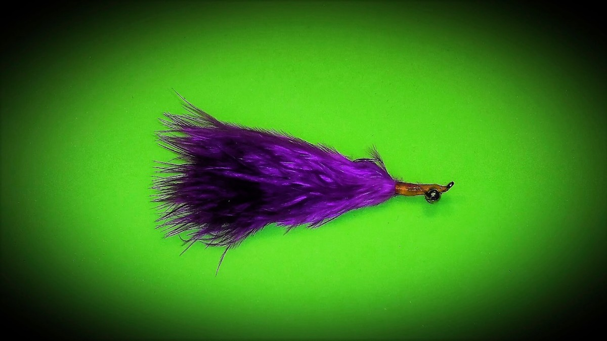 "Purple Marabou Orange Thing... ""PMOT"""