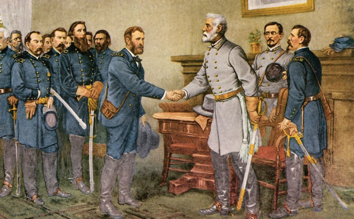 Grant and Lee at Appomattox