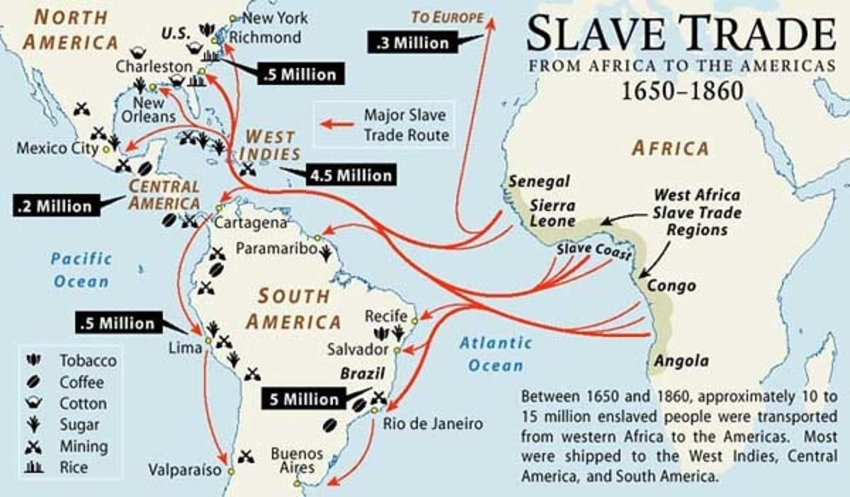 West African Coast Where Slave Capturing and Trading Flourished