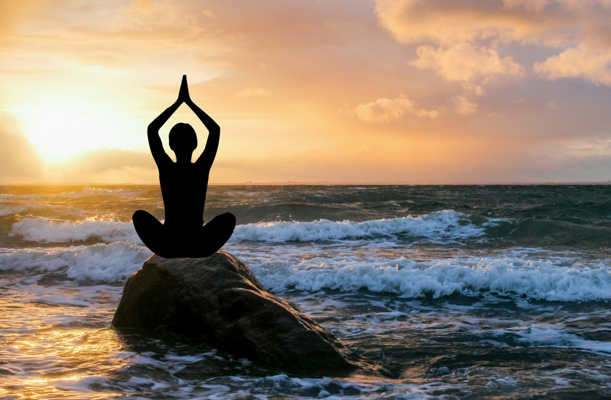 You don't have to go to a fancy beach to meditate, by the way. The most important thing is to meditate regularly.