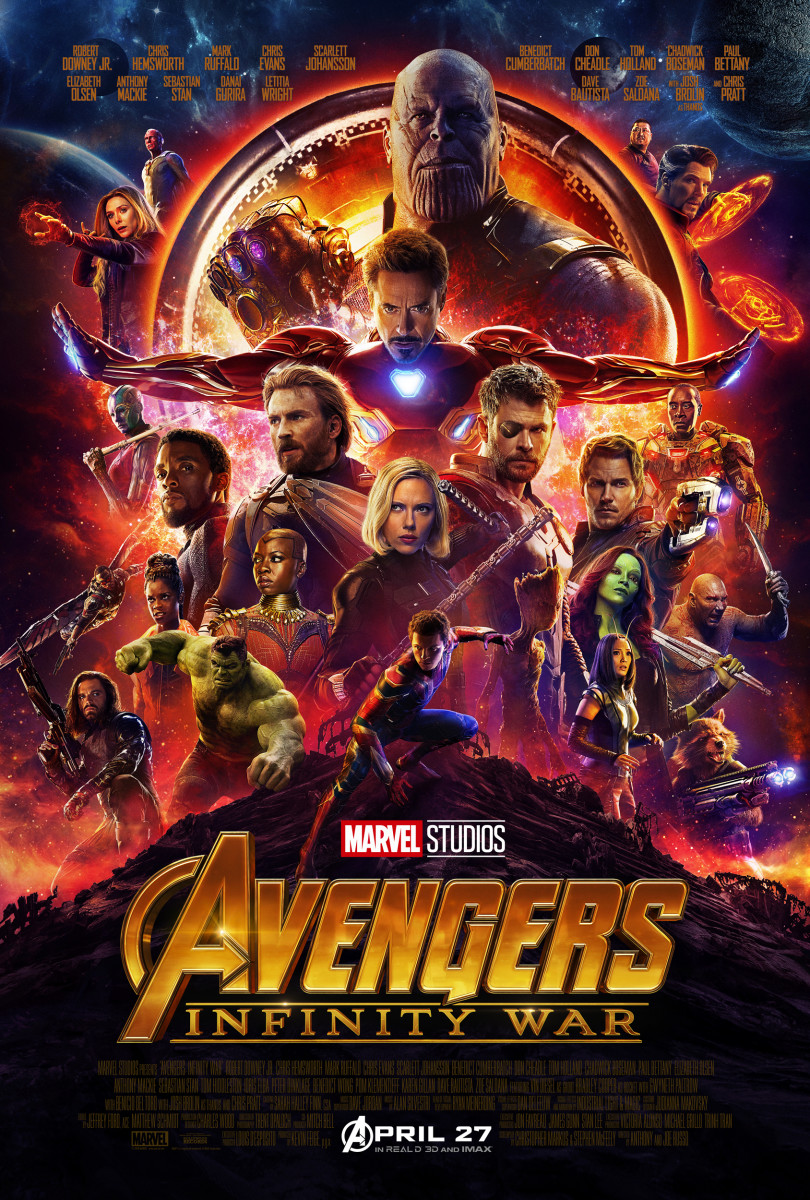 "The official one-sheet theatrical poster for, ""Avengers: Infinity War."""