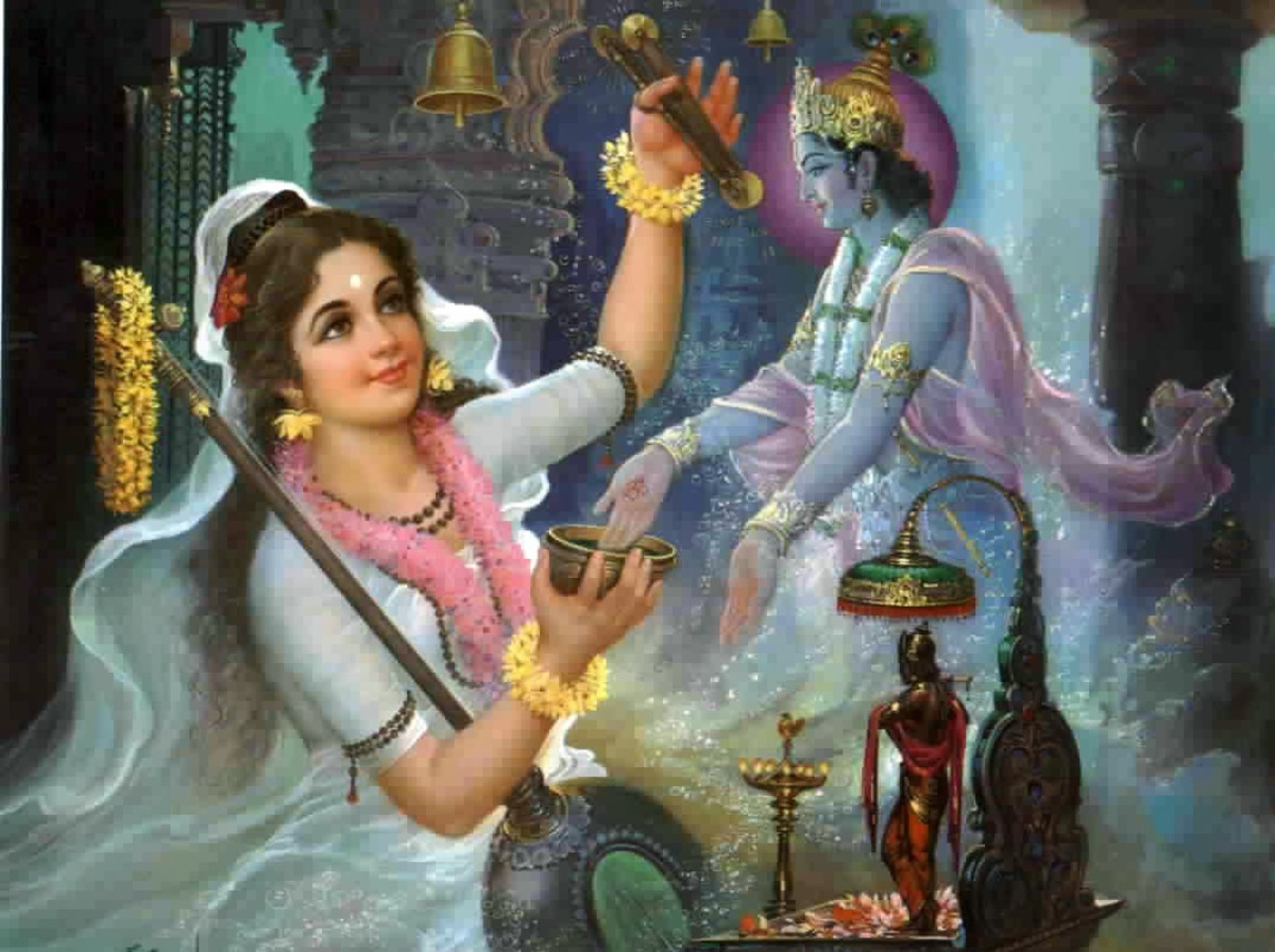 Mirabai, an unsurpassed female devotee of Sri Krishna and a God-realised Soul