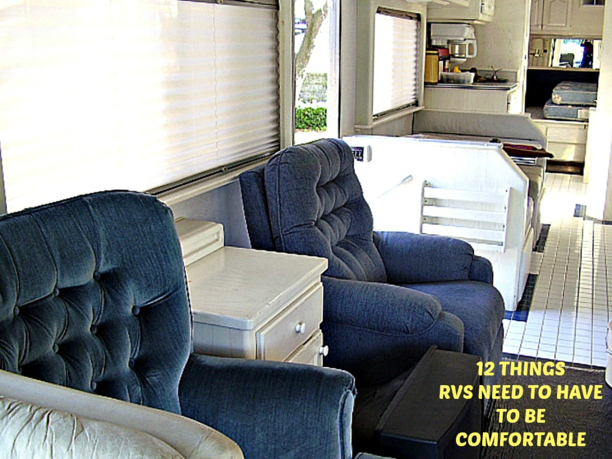 If you want to be comfortable when using your RV, you need to have these 12 items on or in your coach.