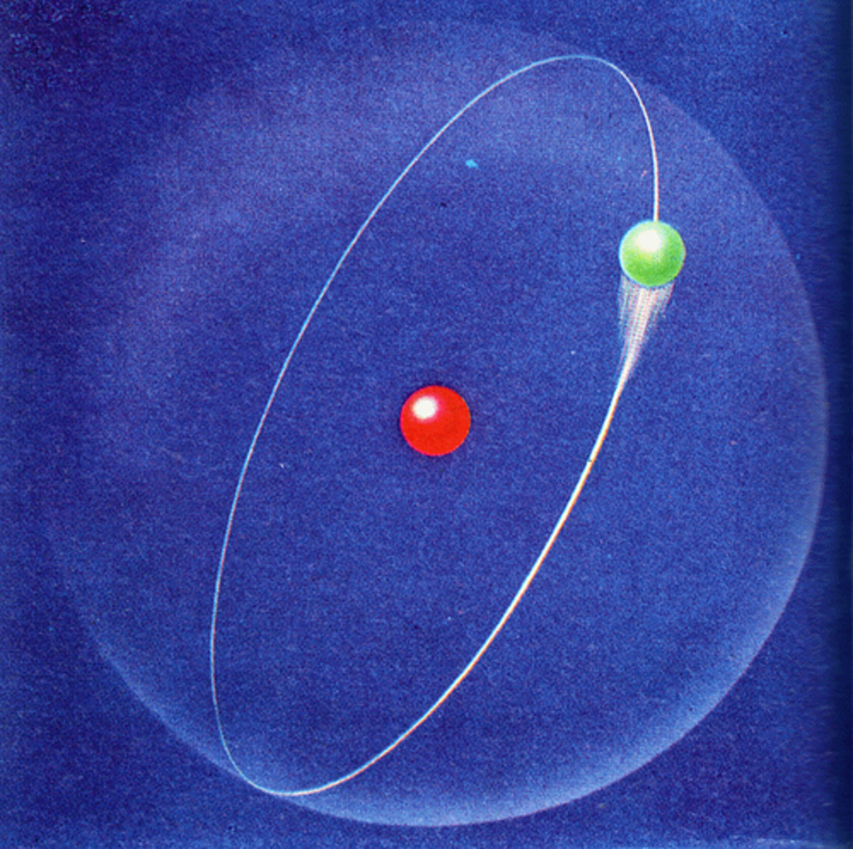 Conceptualization of a hydrogen atom.