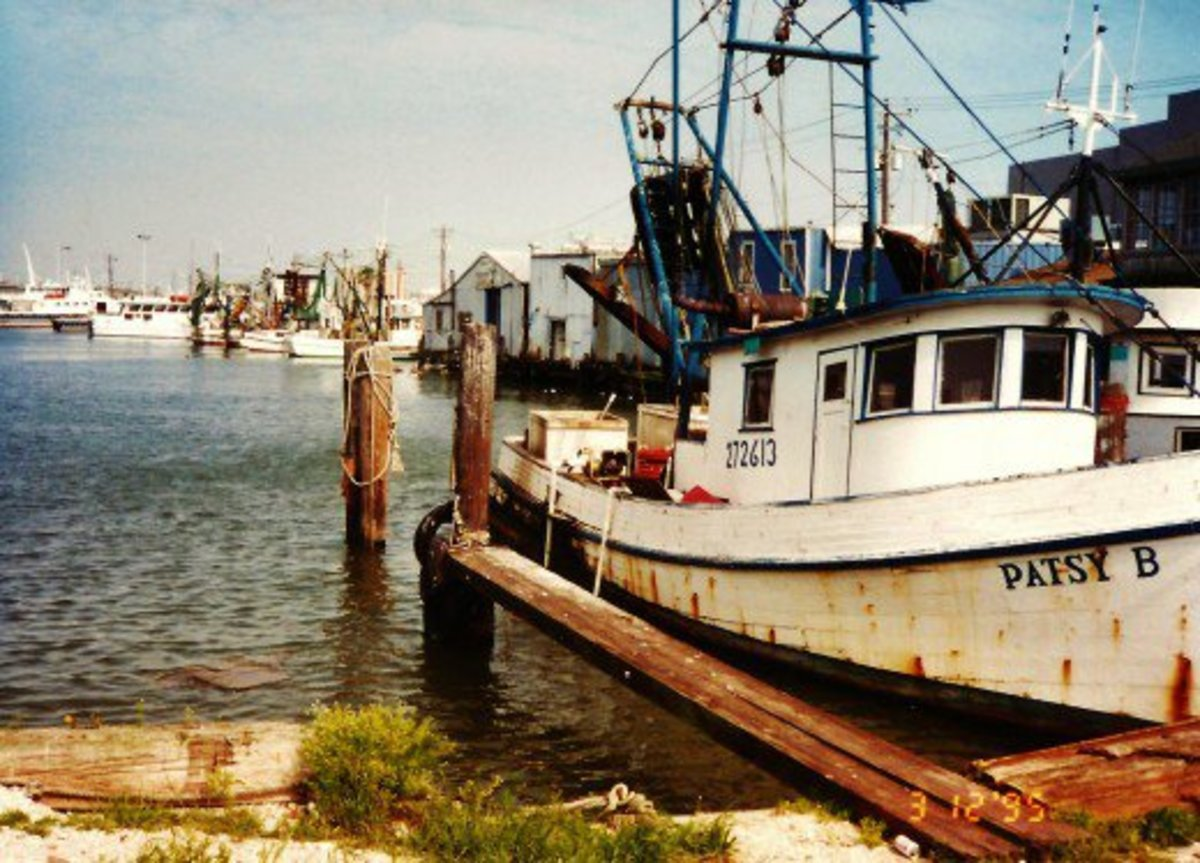 Patsy B Shrimp Boat in Galveston