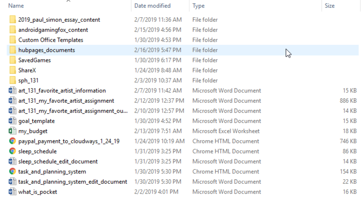 My documents folder.
