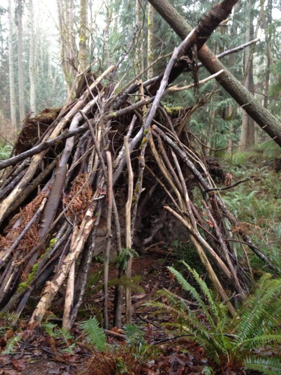 A crude childrens' fort