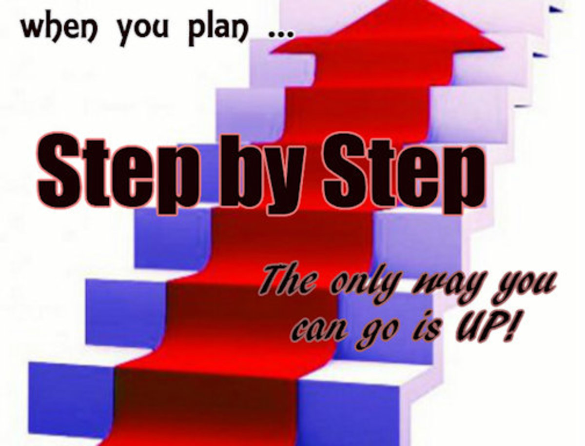 The key to success in any endeavor is systematic planning. Step by Step!