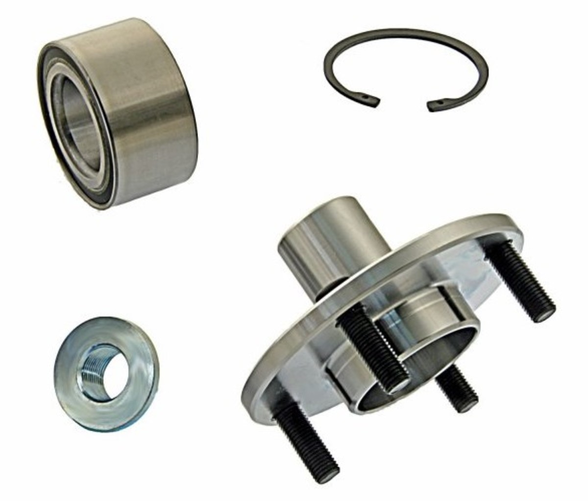 FWD Wheel Hub, Bearing, Snap Ring and CV Axle Nut Replacement Kit