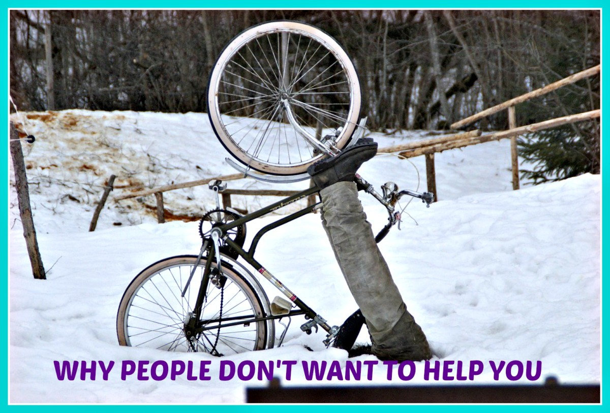 Find out what it is that you are doing that is keeping people from wanting to help you!