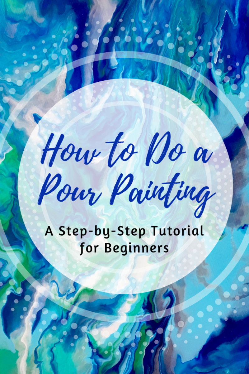 Learn how to do a pour painting in this tutorial for beginners.