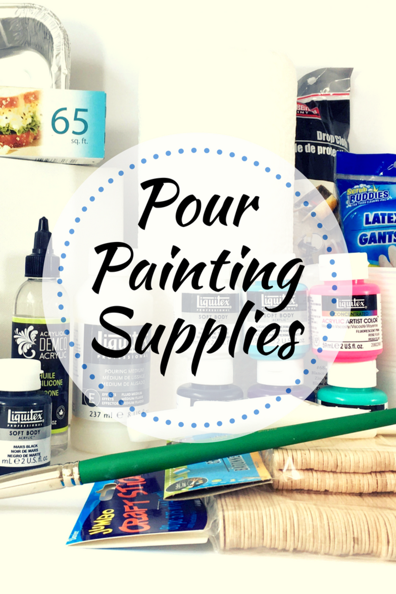 Learn about all the supplies you'll need to get started in the dizzyingly fun field of pour painting.